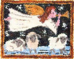 Miniature Punch Needle Rug - Shepard Angel