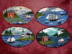 Oval Seascape Rugs