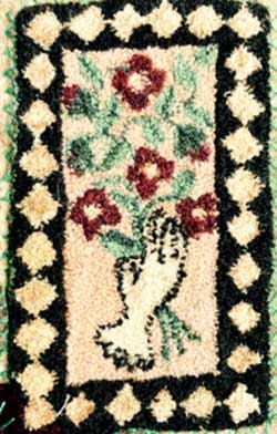 Miniature Punch Needle Rug - Antique Glove