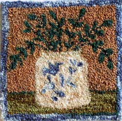 Miniature Punch Needle Rug - Salt Glazed Crock