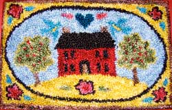Miniature Punch Needle Rug - Home Sweet Home