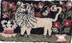 Miniature Punch Needle Rug - Newfoundland Lion
