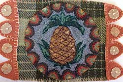 Miniature Punch Needle Rug - Pineapple