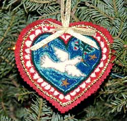 Miniature Punch Needle Rug - Christmas Dove