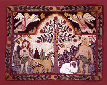 Adam and Eve Rug - sold